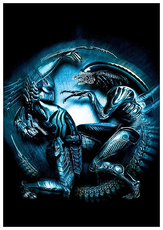 Портретный постер Aliens vs Predator / Чужие против Хищника