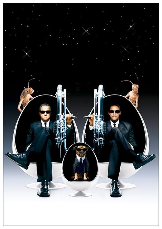 Портретный постер Men In Black / Люди в Чёрном