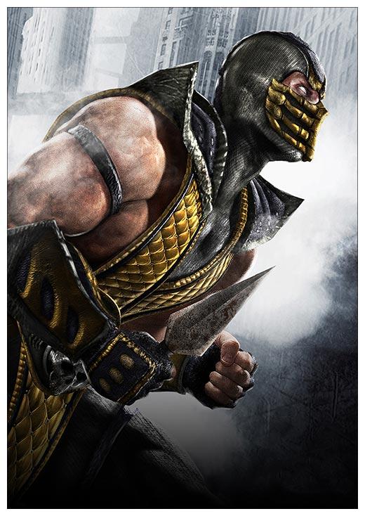 Портретный постер Mortal Kombat / Смертельная схватка