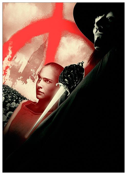 Панорамный постер V for Vendetta / V значит Вендетта