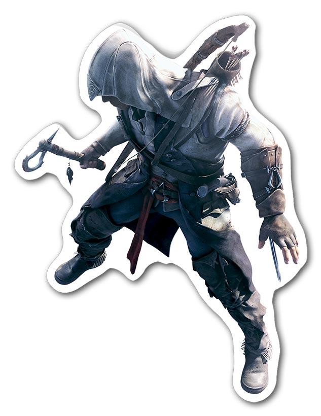 Фигурная наклейка Assassin's Creed / Кредо ассасина