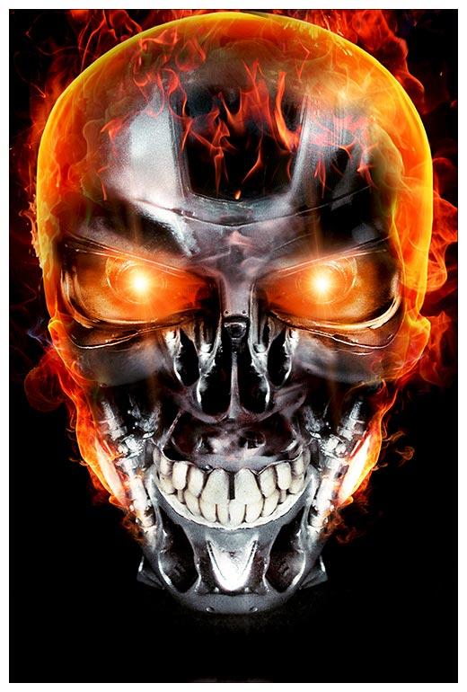 Прямоугольная интерьерная наклейка Terminator / Терминатор
