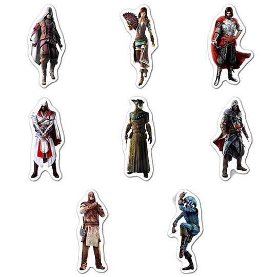 Набор мобильных наклеек Assassin's Creed / Кредо ассасина