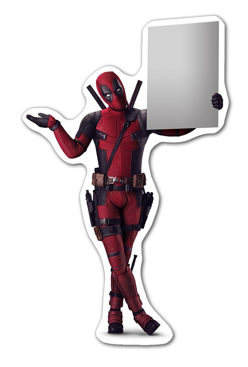 Прозрачная наклейка Deadpool / Дэдпул
