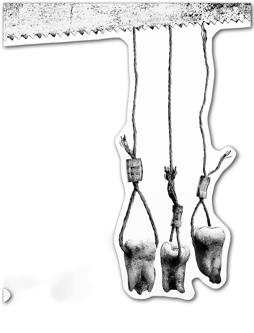 Прозрачная наклейка Saw / Пила