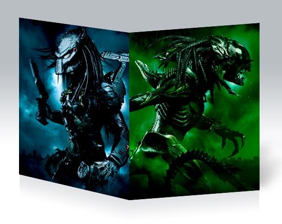 Тонкая школьная тетрадь Aliens vs Predator / Чужие против Хищника