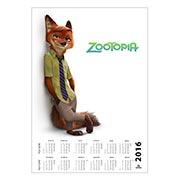 Купить настенные календари Zootopia