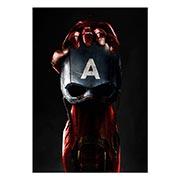 Портретный постер Captain America