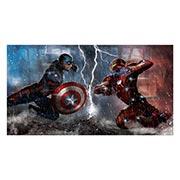 Неформатный постер Captain America. Размер: 110 х 60 см