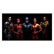 Неформатный постер по аниме/манге Justice League. Размер: 110 х 60 см