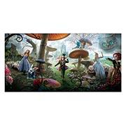 Неформатный постер Alice in Wonderland. Размер: 120 х 60 см