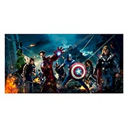 Неформатный постер Avengers. Размер: 120 х 60 см