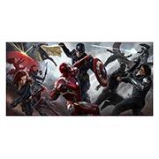 Неформатный постер Captain America. Размер: 120 х 60 см