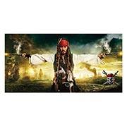 Неформатный постер Pirates of the Caribbean. Размер: 120 х 60 см