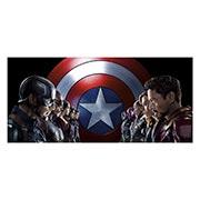 Неформатный постер Captain America. Размер: 130 х 60 см