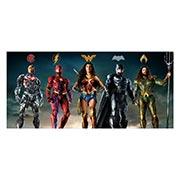 Неформатный постер по аниме/манге Justice League. Размер: 130 х 60 см