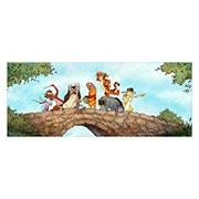 Неформатный постер по аниме/манге Winnie the Pooh. Размер: 150 х 60 см