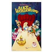 Неформатный постер Alice in Wonderland. Размер: 60 х 100 см