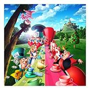 Неформатный постер Alice in Wonderland. Размер: 60 х 60 см