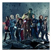 Неформатный постер Avengers. Размер: 60 х 60 см
