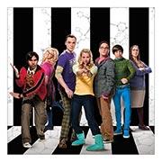 Неформатный постер Big Bang Theory. Размер: 60 х 60 см