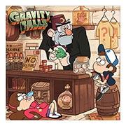 Неформатный постер Gravity Falls. Размер: 60 х 60 см