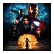Неформатный постер Iron Man. Размер: 60 х 60 см