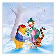 Неформатный постер по аниме/манге Winnie the Pooh. Размер: 60 х 60 см