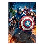 Хардпостер (на твёрдой основе) Avengers. Размер: 20 х 30 см