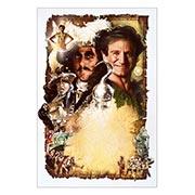 Хардпостер (на твёрдой основе) Peter Pan / Hook. Размер: 20 х 30 см