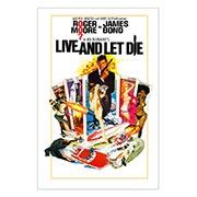 Хардпостер (на твёрдой основе) James Bond: Live and Left Die. Размер: 20 х 30 см