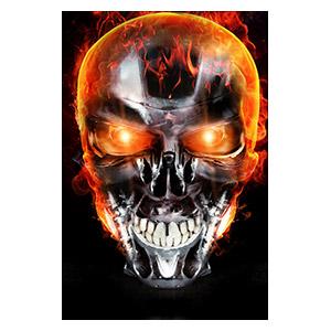 Хардпостер (на твёрдой основе) Terminator. Размер: 20 х 30 см