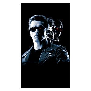 Хардпостер (на твёрдой основе) Terminator. Размер: 20 х 35 см