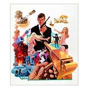 Хардпостер (на твёрдой основе) James Bond: Man with the Golden Gun. Размер: 25 х 30 см