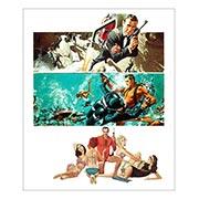 Хардпостер (на твёрдой основе) James Bond: Thunderball. Размер: 25 х 30 см