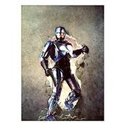 Хардпостер (на твёрдой основе) RoboCop. Размер: 30 х 42 см