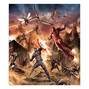Хардпостер (на твёрдой основе) Captain America. Размер: 35 х 40 см