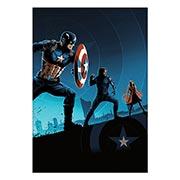 Хардпостер (на твёрдой основе) Captain America. Размер: 35 х 50 см
