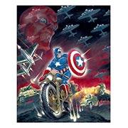 Хардпостер (на твёрдой основе) Captain America. Размер: 40 х 50 см