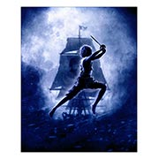Хардпостер (на твёрдой основе) Peter Pan / Hook. Размер: 40 х 50 см