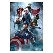 Хардпостер (на твёрдой основе) Avengers. Размер: 40 х 60 см