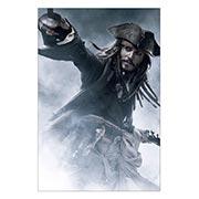 Хардпостер (на твёрдой основе) Pirates of the Caribbean. Размер: 40 х 60 см