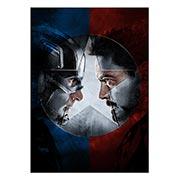 Хардпостер (на твёрдой основе) Captain America. Размер: 50 х 70 см