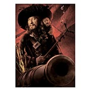 Хардпостер (на твёрдой основе) Pirates of the Caribbean. Размер: 50 х 70 см