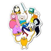 Купить фигурные наклейки Adventure Time