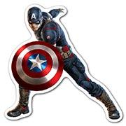 Фигурная наклейка Avengers