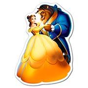 Фигурная наклейка Beauty and the Beast