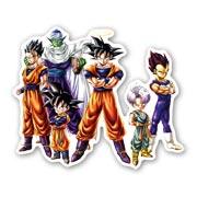 Фигурная наклейка Dragon Ball Z
