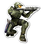 Фигурная наклейка Halo