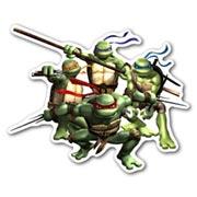 Фигурная наклейка Ninja Turtles